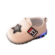 Honhui Toddler Newborn Baby Boys Girls Heart Print Boots Soft Sole Boots Prewalker Winter Warm Shoes (18