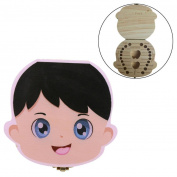 Tooth Box Organiser for Baby,Vanvler Milk Teeth Lanugo Save Wood Storage Box for Kids Boy & Girl Japanese