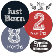Newborn Baby Monthly Stickers - Great Shower Registry Gift or Scrapbook Photo Keepsake