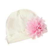 TRENDINAO Newborn Baby Girls Flower Hat White Cotton Soft Hats Cap