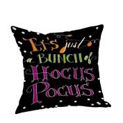 ✿Moseâ . !Cute Halloween Pillow Cases, Linen Sofa Pumpkin ghosts Cushion Cover Home Decor