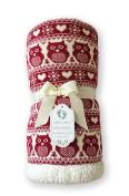 effe bebe Snow Owl Cotton Knit Baby Blanket