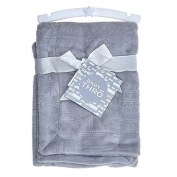 Baby Boy Embossed Automobiles Grey Blanket 80cm X 100cm
