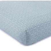 Levtex Navy Karisma Ikat Cotton Fitted Crib Sheet