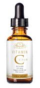 Leah Beauty Vitamin C Serum, 2 fl. oz (60ml) - 20% organic Vitamin C + E + Jojoba Oil