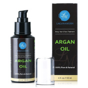 Organic Argan Oil Moroccan Cold-Pressed Argan Oil for Hair Face & Body Pure Natural Anti Ageing, Anti Wrinkle Argan Oil 120ml