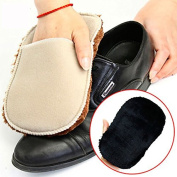 2pcs Multifunctional Soft Plush Wipe Shoes Mitt Brush Cleaning Gloves Shoes Care Tool