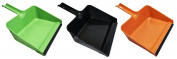 Set of 3 Large Deep Dustpans! Rubber Lip - 29cm - Deep Dustpans Perfect for any Office, Home, or Workplace!