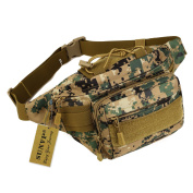Huntvp Military Fanny Pack Tactical Waist Bag Pack Water-resistant Hip Belt Bag Pouch for Hiking Climbing Outdoor Bumbag