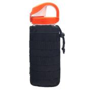 Cevinee™ Ultra-light Tactical MOLLE Water Bottle Pouch, Drawstring Open Top & Mesh Bottom Travel Water Bottle Bag