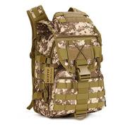 Huntvp 40L Tactical Daypack MOLLE Assault Backpack Pack Military Gear Rucksack Large Waterproof Bag Sport Outdoor For Hunting Camping Trekking