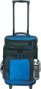Travel5.0 Deluxe Ripstop Beach Travel Rolling Cooler With Wheels, Blue