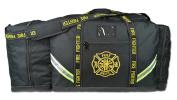 Lightning X Fireman Premium 3XL Firefighter Rescue Step-In Turnout Fire Gear Bag w/ Shoulder Strap & Helmet Pocket