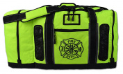 Newly Redesigned Lightning X Firefighter Fireman Quad-vent Turnout Gear Bag w/ Helmet Compartment, Mesh Vents & Maltese Cross for First Responder