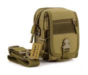 SUNVP Military Tactical MOLLE Phone Pouch Waist Belt Bag Pack Gear Messenger Shoulder Saddlebag