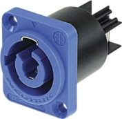 Neutrik Blue Nac3mpa 3 Pole Male Powercon Mains Inlet Chassis Ne244