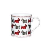 Kitchen Craft Fine Bone China Scottie Dog Friends Barrel Mug