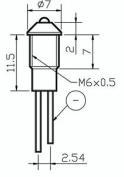 Gund 3mm Rounded Panel Indicator Blue Bezel Led