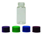 Magnakoys 3 Dram Wide Mouth Clear Glass Vials w/Foam Lined Caps