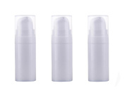 3PCS Airless Pump Bottles-Empty Refillable Plastic Mini Bayonet Cream Lotion Toner Cosmetic Toiletries Liquid Storage Containers Jar Pots(White)