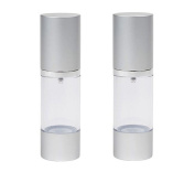 2PCS 30ml Airless Pump Bottles-Upscale Empty Refillable Bayonet Cream Lotion Toner Cosmetic Toiletries Liquid Storage Containers Jar Pots
