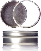 Cotton Orchid Lash Tin 60ml Flat Tin with Clear Slip Cover Lid Included