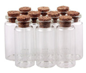 "25PCS 50mm 2"" 10ml Clear Glass Bottles Message Spice Storage With Cork Stoppers Message Weddings Wish Jewellery Arts Crafts Sample Wishing Bottles Perfume DIY Containers"