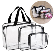 VORCOOL 3pcs Clear Cosmetic Bag Travel Toiletry Makeup Bath Organiser Waterproof