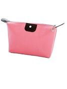 Shunlight Multi-functional Waterproof Nylon Cosmetic Bag Storage Makeup Bag Casual Purse Cosmetic Case Portable Travel Bags Wash Gargle Bag Dumplings Bag(Pink)