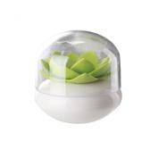VOYEE Lotus Cotton Swab Holder Small Q-tips Toothpicks Storage Organiser Green