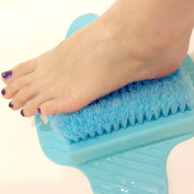 Winfi Foot Scrubber Brush - Floor Brush for Cleaning Feet Soles and Callus - Suction to Floor