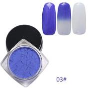 Vanvler Unique 12 Colours Thermochromic Thermal Change Temperature Powder Dust Gradient Nail Art