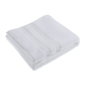 Soak & Sleep Soft Zero Twist Cotton Bath Sheet - White