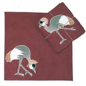 Set of Crowned Crane Handpainted Cotton Napkins