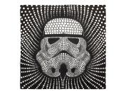 Star Wars Storm Trooper Dots Square 70cm x 70cm Euro Sham with Flange, Black/White