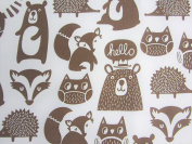 Forest Friends 100% Polyester (FLAT SHEET ONLY) Size FULL Boys Girls Kids Bedding