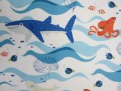Finding Dory Hank and Nemo 100% Polyester (FLAT SHEET ONLY) Size TWIN Boys Girls Kids Bedding
