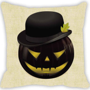 RTYou(TM) Halloween Pumpkin Square Pillow Cover with Zipper Closure