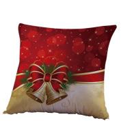 RTYou(TM) Christmas Linen Square Decorative Cushion Pillow Cover