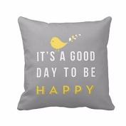 RTYou(TM) Yellow Bird Letter Square Throw Pillow Case