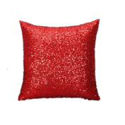 RTYou(TM) Solid Colour Glitter Sequins Throw Pillow Case for Home Decor