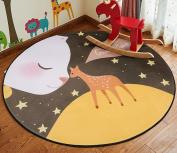 SESO UK- Cartoon chair Carpet for kids Round rug Bedroom Living Room mat