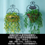 XMJR Wall decoration American balcony wall decoration flower baskets creative floral decorations wall mount wall decoration hanging cafe living room wall hangings, malt and flower baskets in combination,