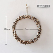 XMJR Wall decoration Creative bedroom restaurant walls manually hanging stereo wall decoration home living room wall hangings wall of rattan soft decorations, rattan - Embossed circle