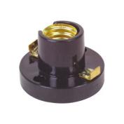 Small Bulb Lampholder Ses E14 Bakelite Base W/ Screw Terminals 38mm Base Dia.