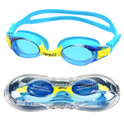 Kids Swimming Goggles,COPOZZ Swim Goggles for Children Junior Boys Girls - Age 3 4 5 6 7 8 9 10 11 12 Years - Anti Fog UV Protection No Leak - Mirror / Clear Lens - With FREE Protection Case