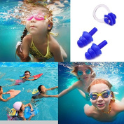 Mofun® SOFT TOUCH KIDS BLUE SWIMMING POOL SEA BEACH IN EAR PLUGS AND NOSE CLIP
