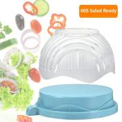 60 Seconds Salad Maker, Salad Cutter Bowl Fruit Vegetable Bowl Cutter-Fast Fresh Salad Slicer, Salad Chopper