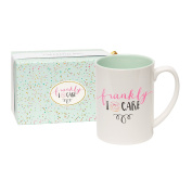 C.R. Gibson 470ml Porcelain Coffee Mug, Gift Boxed, Dishwasher & Microwave Safe, Measures 13cm W x 12cm - Frankly I Donut Care