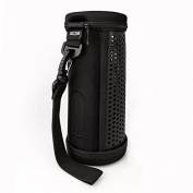 SCS ETC Speaker Travel Case Riding Pack Carrying Bag for UE MEGABOOM Wireless Bluetooth Speakers - PU Leather, Black